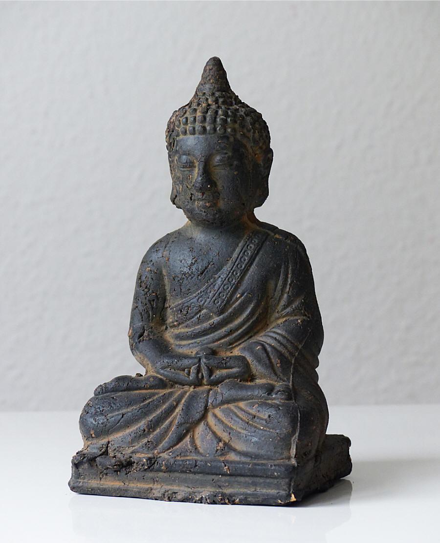 Top Gro E Buddha Figur Sitzend Lachend Feng Shui Asia